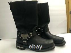Milwaukee Motorcycle Classic Harness Men's 8 Wide Boots MB410 MB 410
