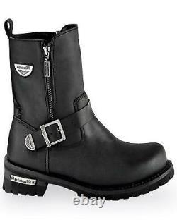 Milwaukee Motorcycle Clothing Co. Men's Afterburner Moto Boot Round Toe Black