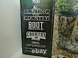 Mossy Oak Country Insulated Hunting Boots with 400g Insulation, Waterproof Sz 10
