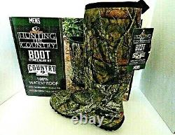 Mossy Oak Country Insulated Hunting Boots with 400g Insulation, Waterproof Sz 12