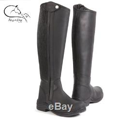 NEW Toggi Quest Nubuck & Leather Horse Riding Zip Up Country Boot Black