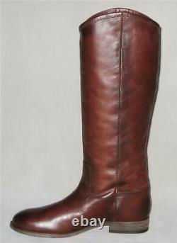 NIB Frye MELISSA BUTTON 2 Tall Leather Boots Women 8.5 Redwood MSRP$348