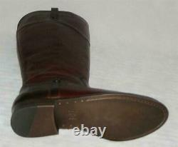 NIB Frye MELISSA Tab Tall Leather EXTENDED Calf Zip BOOTS Women Redwood MSRP$348