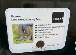 New Toggi Ravine Leather Country Walking / Riding Boots Size 3 Eur 35 Brown