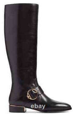 New Tory Burch Black Sofia Buckled Riding Boot sz 5 winter holiday gift