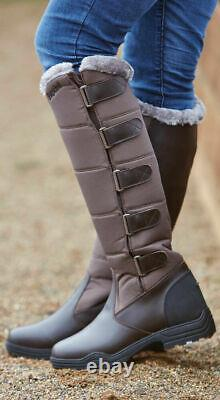 (P) Brogini Forte Winter Long Boots Warm Yard Riding Walking Country Casual