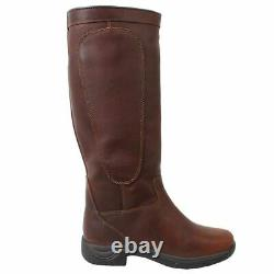 Pinnacle Grain Country Boots Womens Riding Lace Mid Calf Waterproof Breathable