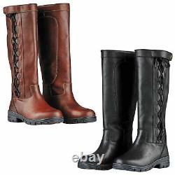 Pinnacle Grain II Ladies Country Long Boots Waterproof Horse Riding Dog Walking