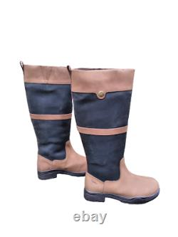 Polestar Country/Riding Boots Long/Walking Leather Horse Waterproof UK 7/41