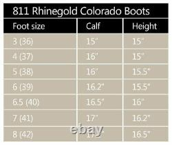 Rhinegold Colorado Riding Country Boot Leather Size 4 8 Adult Black Brown Yard
