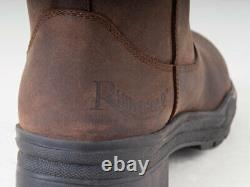 Rhinegold Elite Colorado Riding Yard Country Boots Leather Sizes 3-8 Adults