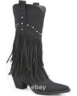 Roper Rhinestone Fringe Cowgirl Boot Pointed Toe 09-021-1556-0684 BL