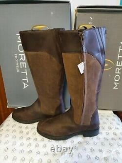 Shires Moretta Pamina Womens Country Boots riding yard 8 8.5 wide nella Spanish