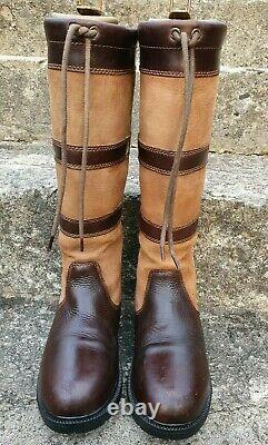Shires Moretta Teo Long Country Boots Brown 6 6.5 yard riding show
