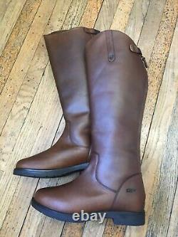 Shires Moretta Ventura Long Riding Country Boots Size 8 Wide Calf Fleece Lined