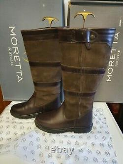 Shires Moretta nella Long Country Boots 5 5.5 x wide XW yard riding
