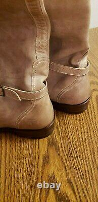 Size 10 Style #77559 Frye Dorado Riding Boots Taupe Excellent Used Condition