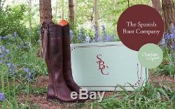 Spanish Boot Co. Classic Spanish Riding Boots Dark Brown Leather 5 (really 6)