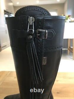 Spanish Boot Company Classic Spanish Riding Boots Black Leather 5 (really 6)