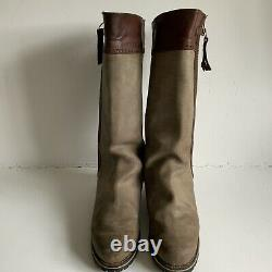 Superb Pair Of Long Leather Riding / Country Boots Equestrian