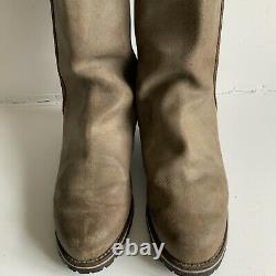 Superb Pair Of Long Leather Riding / Country Boots Equestrian Size UK 10