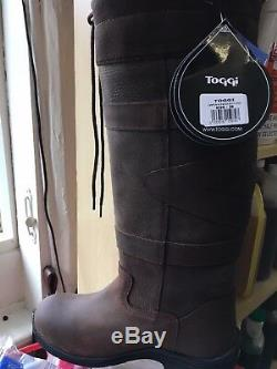 TOGGI CANYON waterproof long country boots leather walking, casual, riding reg