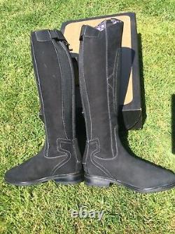 TREDSTEP Parkland Black Country Riding Boots Fit 5/5.5 Reg Calf- V Comfy NEW