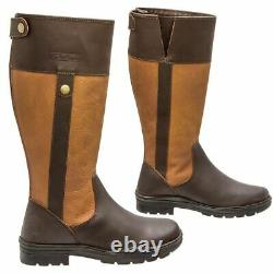 Tall Riding Boot Yard Walking Leather Country Boots UK 3 to 8 Light Brown