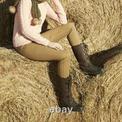 Toggi Aspen Lace Front Shorter Boots brown sizes UK 4, 7, 8 riding yard country