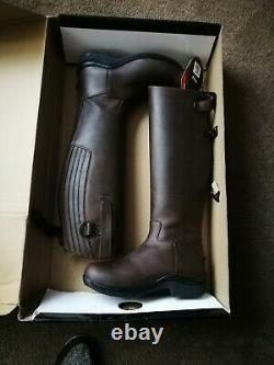 Toggi Calgary Adults Long Leather Riding Country Walking Boots. Thin calf size 37