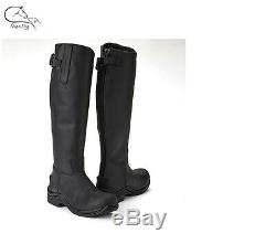 Toggi Calgary Long Leather Country Riding Boots Black/Brown (All Sizes) RRP £125