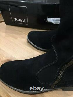 Toggi Campello Black (Midnight Blue) Suede Riding / Country Long Boots Size 5