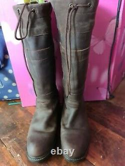 Toggi Canyon brown Leather Country / Riding /yard/ Boots Size 39 (UK SIZE 6)