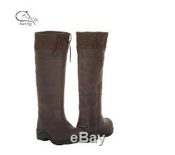 Toggi Childs Ravine Waterproof Long Country Boots Leather, Yard, Casual, Riding