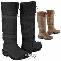 Toggi Equestrian Canyon Adults Long Riding Country Walking Boot All Sizes 36-43