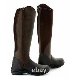 Toggi Long Leather Riding Boot brown size UK 6 EU 39 yard country
