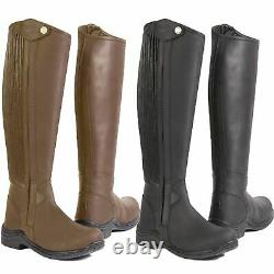 Toggi Quest Stretch Calf Long Leather Horse Riding Country Walking Boot Size 3-9