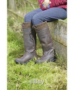 Toggi Ravine Child's Waterproof Long Country Boots Leather Riding, Casual, Yard