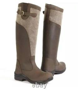 Toggi Winnipeg Waterproof, Insulated Leather/Canvas Riding, Country Boots Size 5