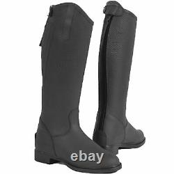 Tuscon Childrens Long Country Boots Horse Riding Tall Nubuck Leather Size 28-38
