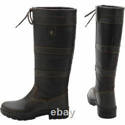 Unisex Long Riding Boots Kensington Durable Comfort Fit Outdoor Horse Equestrian