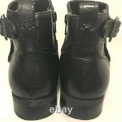 VIONIC Country Logan Ankle Boots Womens 6 M Black Leather Zip Booties $160