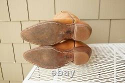 VTG Frye 6205 Leather Cowboy Western Riding Boot Brown 5 B Boho Country