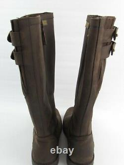 Woodland Blake Mens Dark Brown Waterproof Riding Waxy Leather Country Boots UK 9