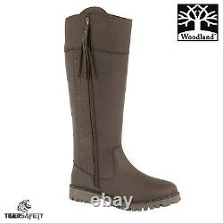 Woodland L250DB Bailey Ladies Brown Waterproof Riding Equestrian Country Boots