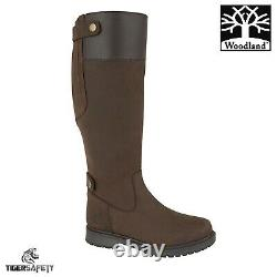 Woodland L257DB Harper Ladies Brown Waterproof Riding Equestrian Country Boots